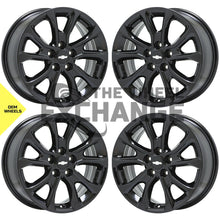 "Load image into Gallery viewer, 17"" Chevrolet Equinox black wheels rims Factory OEM 2018 2019 2020 set 4 5829"