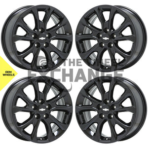 "17"" Chevrolet Equinox black wheels rims Factory OEM 2018 2019 2020 set 4 5829"