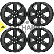 "Load image into Gallery viewer, 20"" Chevrolet Blazer Traverse Black wheels rims Factory OEM GM set 4 5845"