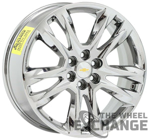 "20"" Chevrolet Traverse Blazer PVD Chrome wheels rim Factory OEM set 4 5847"