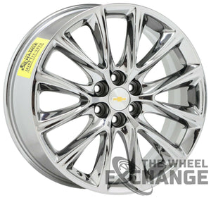 "20"" Buick Enclave Traverse PVD Chrome wheels rims tires Factory OEM GM set 5852"