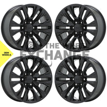 "Load image into Gallery viewer, 20"" GMC Sierra Yukon 1500 Truck Black wheels rims Factory OEM 2019 2020 set 5917 EXCHANGE"