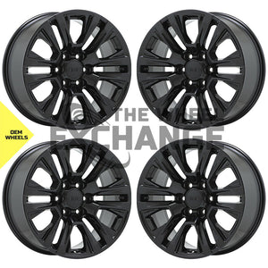 "20"" GMC Sierra Yukon 1500 Truck Black wheels rims Factory OEM 2019 2020 set 5917 EXCHANGE"