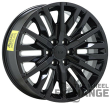 "Load image into Gallery viewer, 22"" Sierra Silverado Tahoe Yukon Black wheels rims Factory OEM GM set 2019 2020"