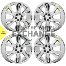 "Load image into Gallery viewer, 21"" Chevrolet Blazer PVD Chrome wheels rims Factory OEM 2019 2020 GM set 4 5938"