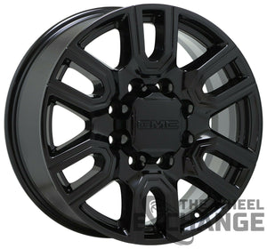 "20"" Sierra Silverado 2500 3500 Black wheels rims Factory OEM 2020 2021 set 5950"