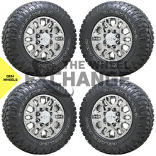 "Load image into Gallery viewer, 18"" Silverado 2500 3500 Truck black wheels tires Factory OEM 2020 2021 set 5959"