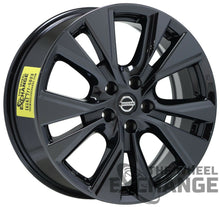"Load image into Gallery viewer, 18"" Nissan Murano Black Chrome wheels rims Factory OEM 2015-2020 set 4 62706"