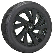 "Load image into Gallery viewer, 20"" Nissan Murano black wheels rims tires Factory OEM set 4 62707"