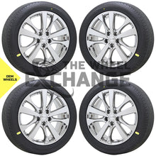 "Load image into Gallery viewer, 18"" Nissan Altima Maxima PVD Chrome wheels rims tires Factory OEM set 4 62720"