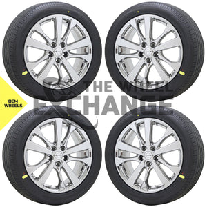 "18"" Nissan Altima Maxima PVD Chrome wheels rims tires Factory OEM set 4 62720"