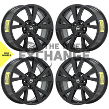 "Load image into Gallery viewer, 18"" Nissan Maxima Black wheels rims Factory OEM 2016 2017 2018 2019 set 4 62721"