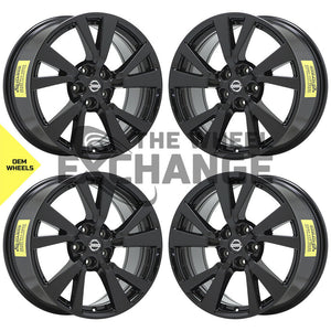 "18"" Nissan Maxima Black wheels rims Factory OEM 2016 2017 2018 2019 set 4 62721"