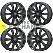 "Load image into Gallery viewer, 19"" Nissan Maxima Platinum Black Chrome wheels rims Factory OEM set 4 62723"