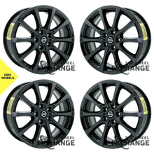 "Load image into Gallery viewer, 18"" Nissan Murano Black Chrome wheels rims Factory OEM 2017 2018 2019 2020 set 4"