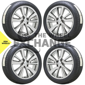 "19"" Nissan Rogue Sport PVD Chrome wheels rims tires Factory OEM set 4 62748"