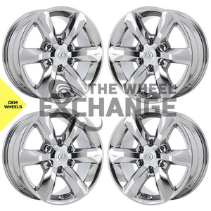 "18"" Lexus GX460 PVD Chrome wheels rims Factory OEM set 74229 EXCHANGE"