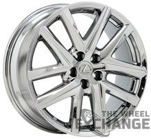 "Load image into Gallery viewer, 19x8 Lexus GS F-Sport PVD Chrome wheel rim Factory OEM 19"" 74347"