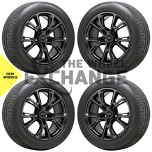 Load image into Gallery viewer, 20x10 Jeep Grand Cherokee SRT Black Chrome wheels rim tires Factory OEM set 9113