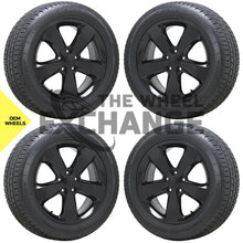 "Load image into Gallery viewer, 20"" Jeep Grand Cherokee Overland black wheels rims tires Factory OEM set 4 9137"