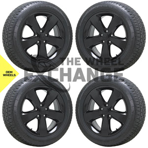 "20"" Jeep Grand Cherokee Overland black wheels rims tires Factory OEM set 4 9137"