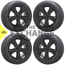 "Load image into Gallery viewer, 20"" Jeep Grand Cherokee Altitude Black wheels rims tires Factory OEM set 4 9137"