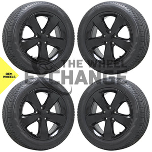 "20"" Jeep Grand Cherokee Altitude Black wheels rims tires Factory OEM set 4 9137"