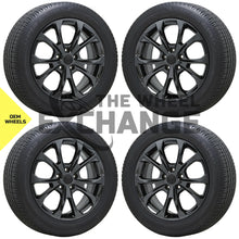 "Load image into Gallery viewer, 20"" Grand Cherokee Summit Black Chrome wheels rims tires Factory OEM set 4 9212"