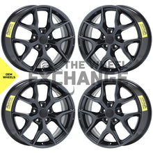 "Load image into Gallery viewer, 20"" Jeep Grand Cherokee BlAck Chrome wheels rims Factory OEM 2019 2020 set 9214 EXCHANGE"