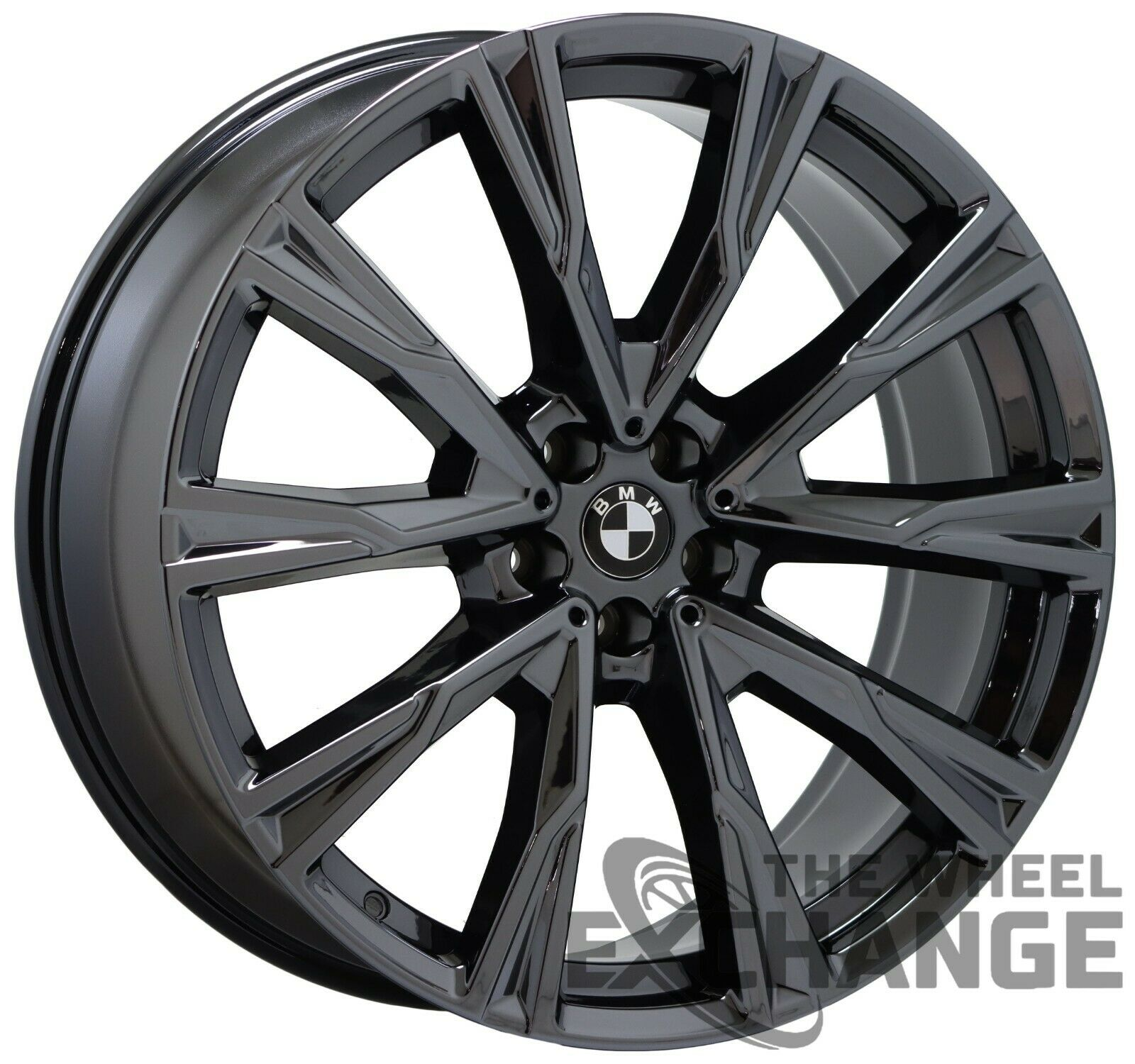 22x9 5 22x10 5 Bmw X7 Black Chrome Wheels Rims Factory Oem 22 Set 4 2 The Wheel Exchange