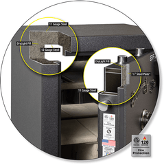 AMSEC BFX Series Gun Safe Steel Construction