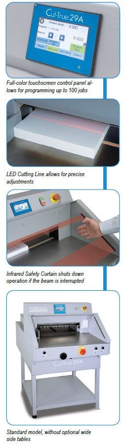 Formax Cut-True 29A Automatic Electric Guillotine Cutter Features