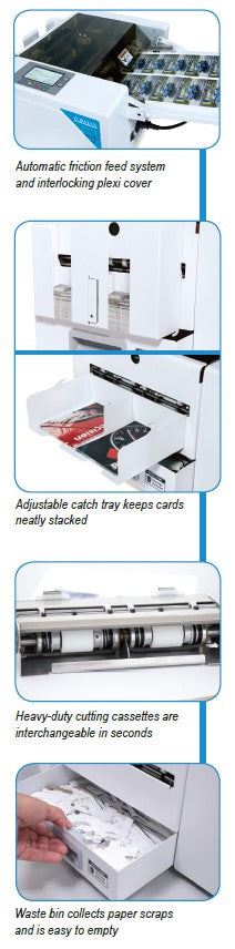 Formax FlashCard Business Card Cutter Features