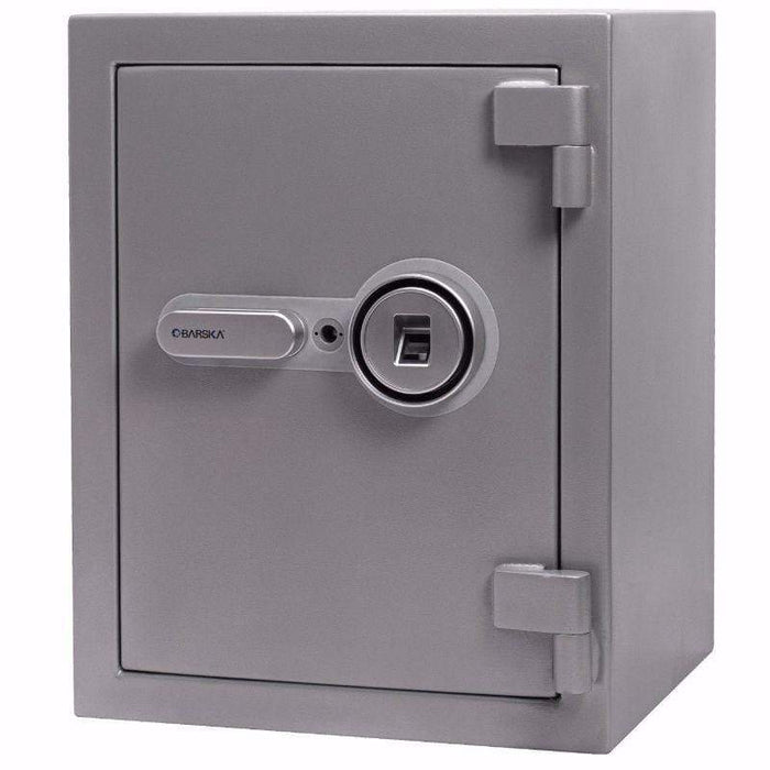 Barska 1.64 Cubic Ft Biometric Fireproof Safe, Metallic Grey AX13494