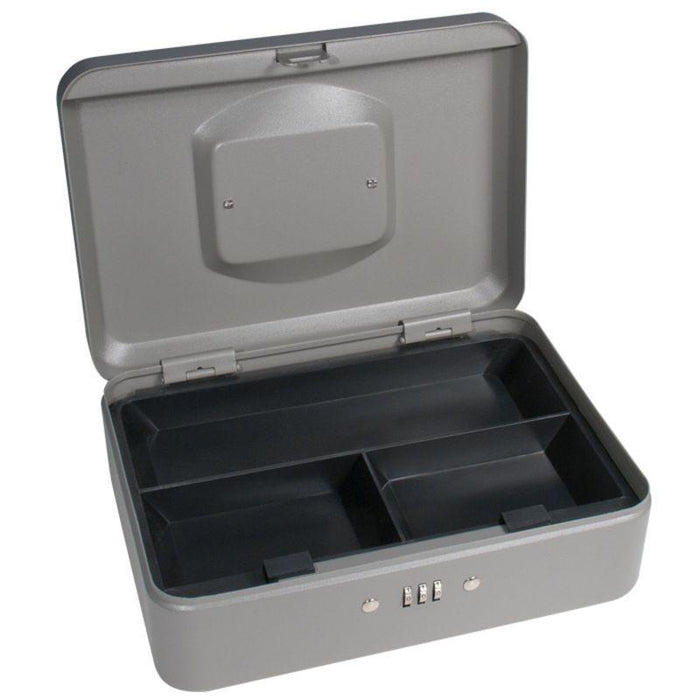 "Barska 10"" Cash Box with Combination Lock, Grey CB11786"