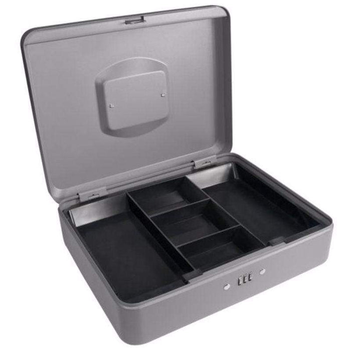 "Barska 12"" Cash Box with Combination Lock, Grey CB11788"