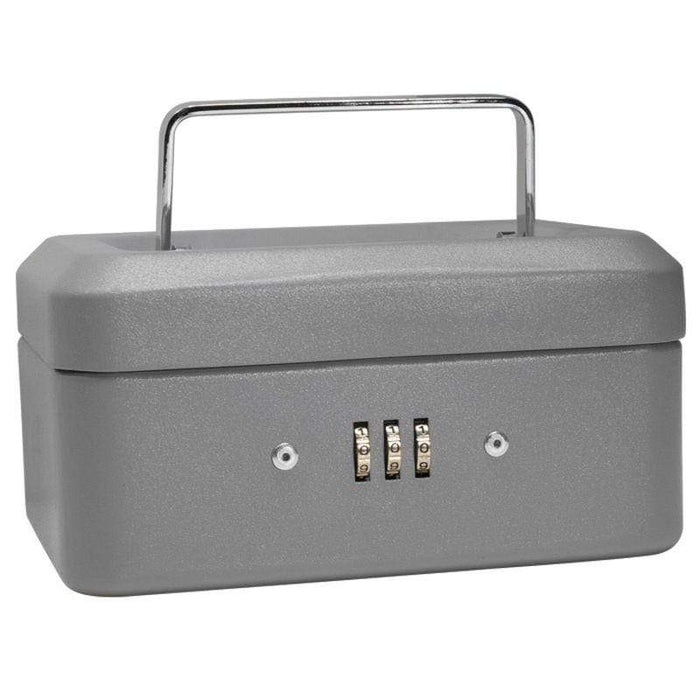 "Barska 6"" Cash Box with Combination Lock, Grey CB11782"