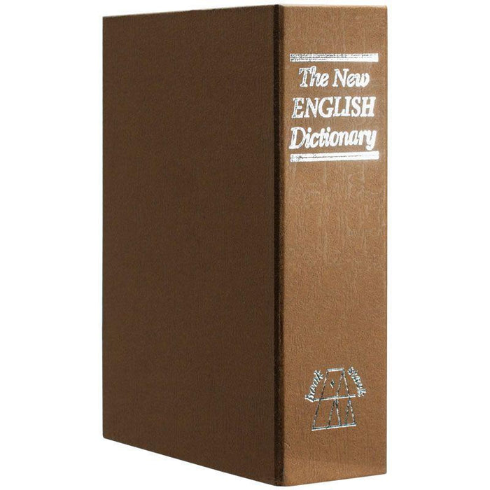 Barska Dictionary Book Lock Box with Combination Lock, Brown CB11990