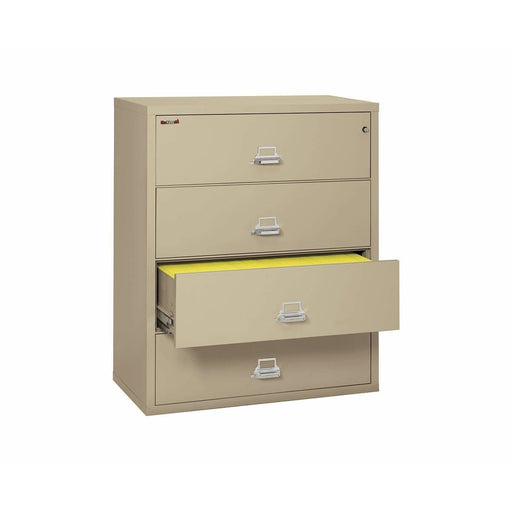 "FireKing Four Drawer 44"" Wide Lateral File Cabinet 4-4422-C Feature"