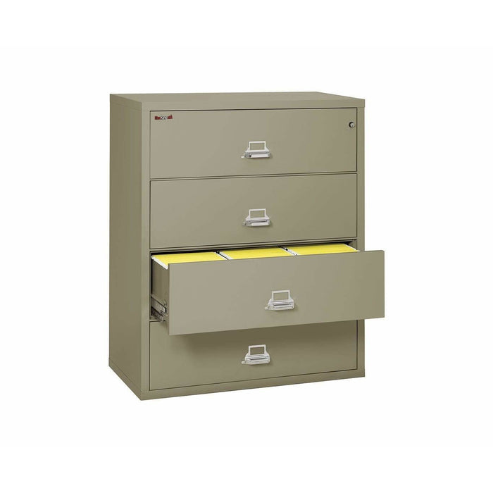 "FireKing Four Drawer 44"" Wide Lateral File Cabinet 4-4422-C Specification"