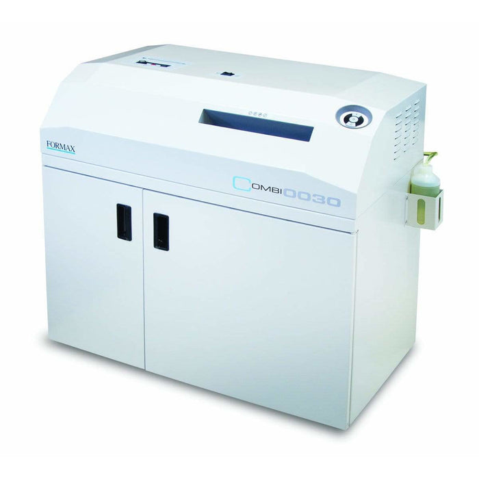 Formax Combination Shredder, High-Security Paper & Optical Media with EvenFlow Oiling System Combi 0030