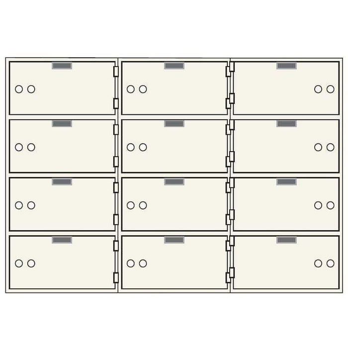 Socal Safe AX Single Nose Deposit Boxes with Brass Hinges AXSN-12