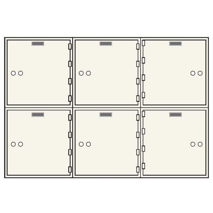 Socal Safe AX Single Nose Deposit Boxes with Brass Hinges AXSN-6