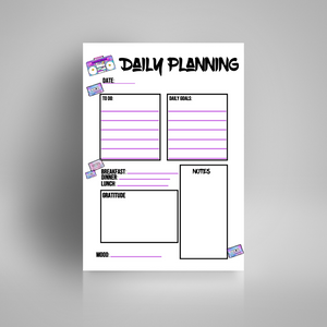 Daily Planning - 90's Vibes | Bullet Journal Inserts | Printable Planning Pages