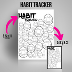 Load image into Gallery viewer, Tamagotchi Inspired Habit TrackerHabit Tracker - 90's Vibes | Bullet Journal Inserts | Printable Planning Pages