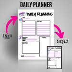 Load image into Gallery viewer, Daily Planning - 90's Vibes | Bullet Journal Inserts | Printable Planning Pages