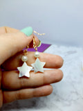Stone Star Drop Earrings