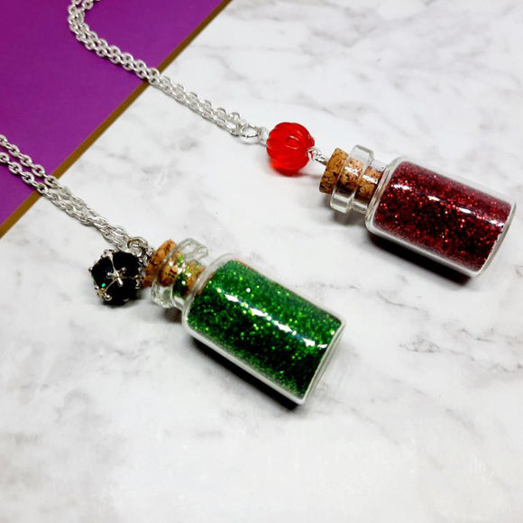 Christmas Wishes Bottle Necklaces