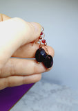Mulled Wine Garnet Earrings