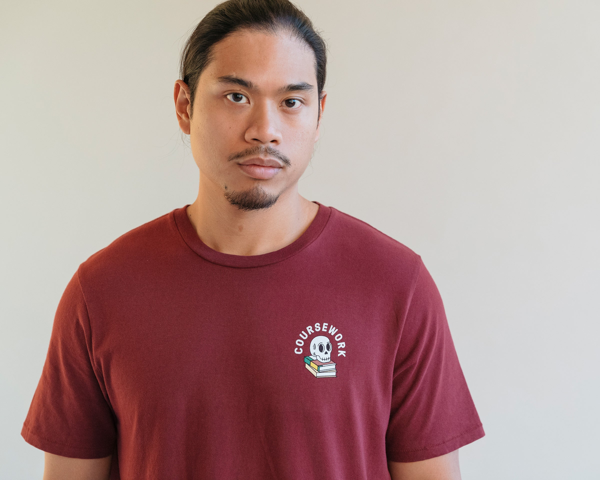 DROP 01 - Required Reading Tee Maroon